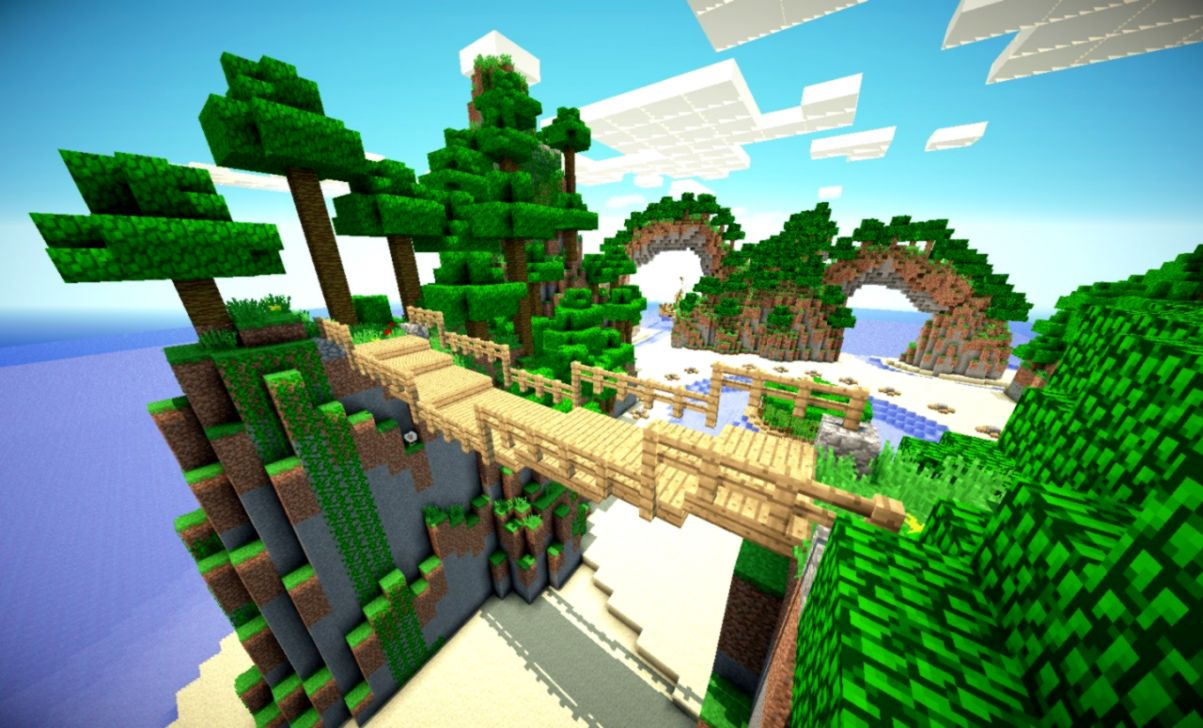 Minecraft Wallpaper Islands Wallpapers Moving