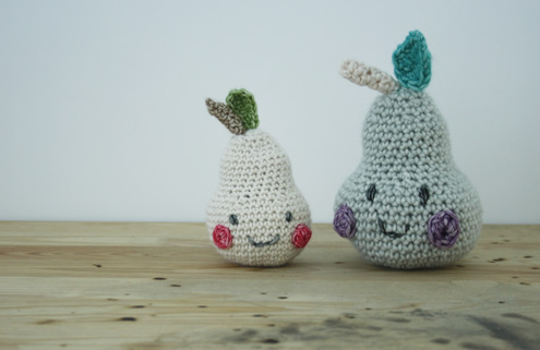 Crochet pears | Happy in Red