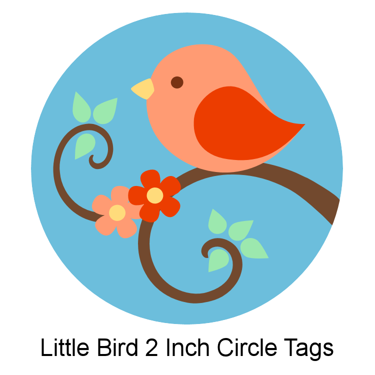 Dont Eat The Paste Little Bird Circle Tags