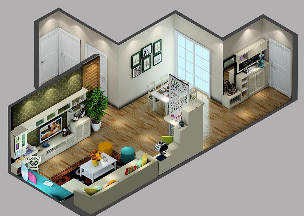 1Korean-Style-Minimalist-home-4 35 Sky View 4D American House Plan Styles Interior