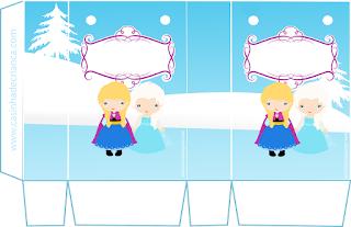 Cajas de  Frozen Bebé para imprimir gratis.