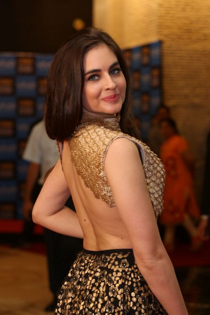Indian Model Sarah Hopkins Stills At SIIMA Short Film Awards 2017