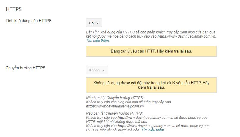 Đang xử lý yêu cầu HTTP Hãy kiểm tra lại sau