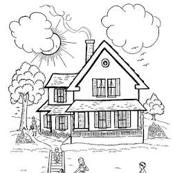 Kumpulan Gambar Hitam Putih Rumah Adat Untuk Belajar Mewarnai