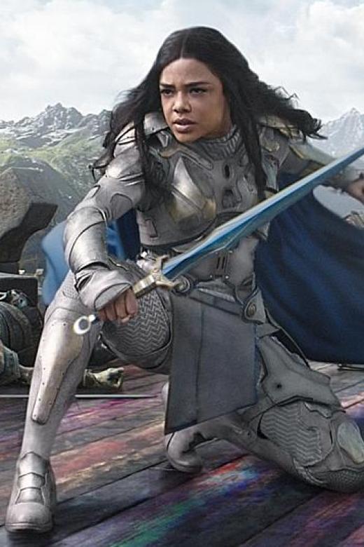 US actress Tessa Thompson as Valkyrie in Thor: Ragnarok.