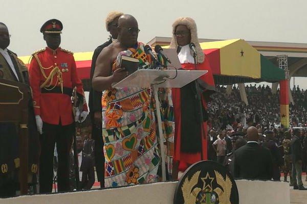 Nana Addo sworn-in as Ghana's 5th President of 4th Republic of Ghana