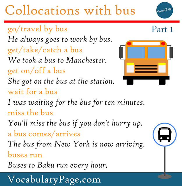 Collocations with bus