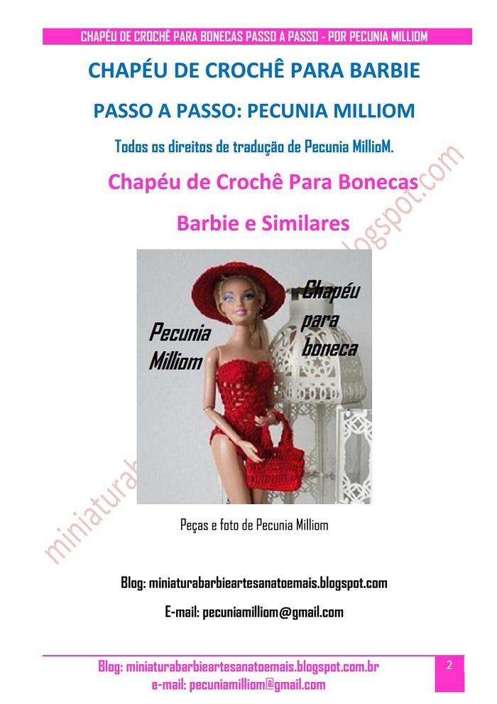 DIY - Chapéu de Crochê Para Bonecas  Passo a Passo (PAP)