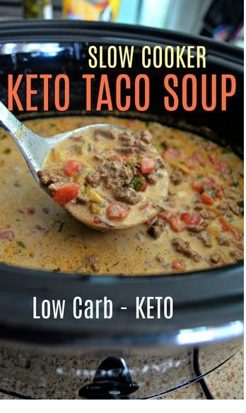 Easy Slow Cooker Keto Taco Soup