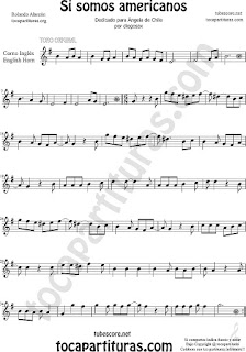 Horn Sheet Music for Si Somos Americanos Chilean Music Score