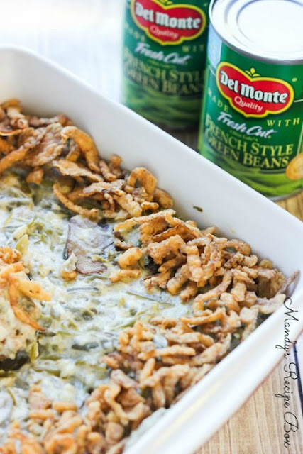 Green Bean Casserole with Mushrooms and Cream Sauce by Mandy's Recipe Box