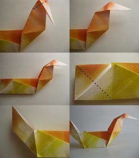 Origami Ördek Yapımı Resimli Anlatım 3