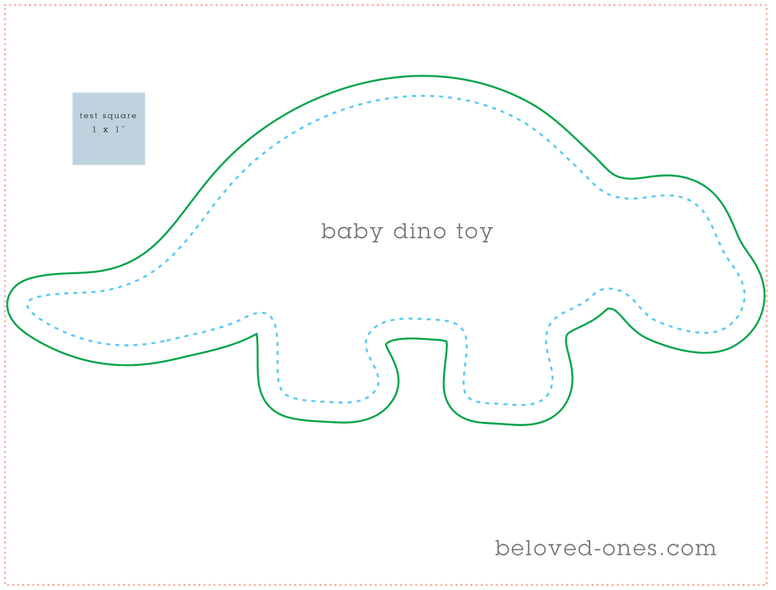 beloved ones baby dino pattern