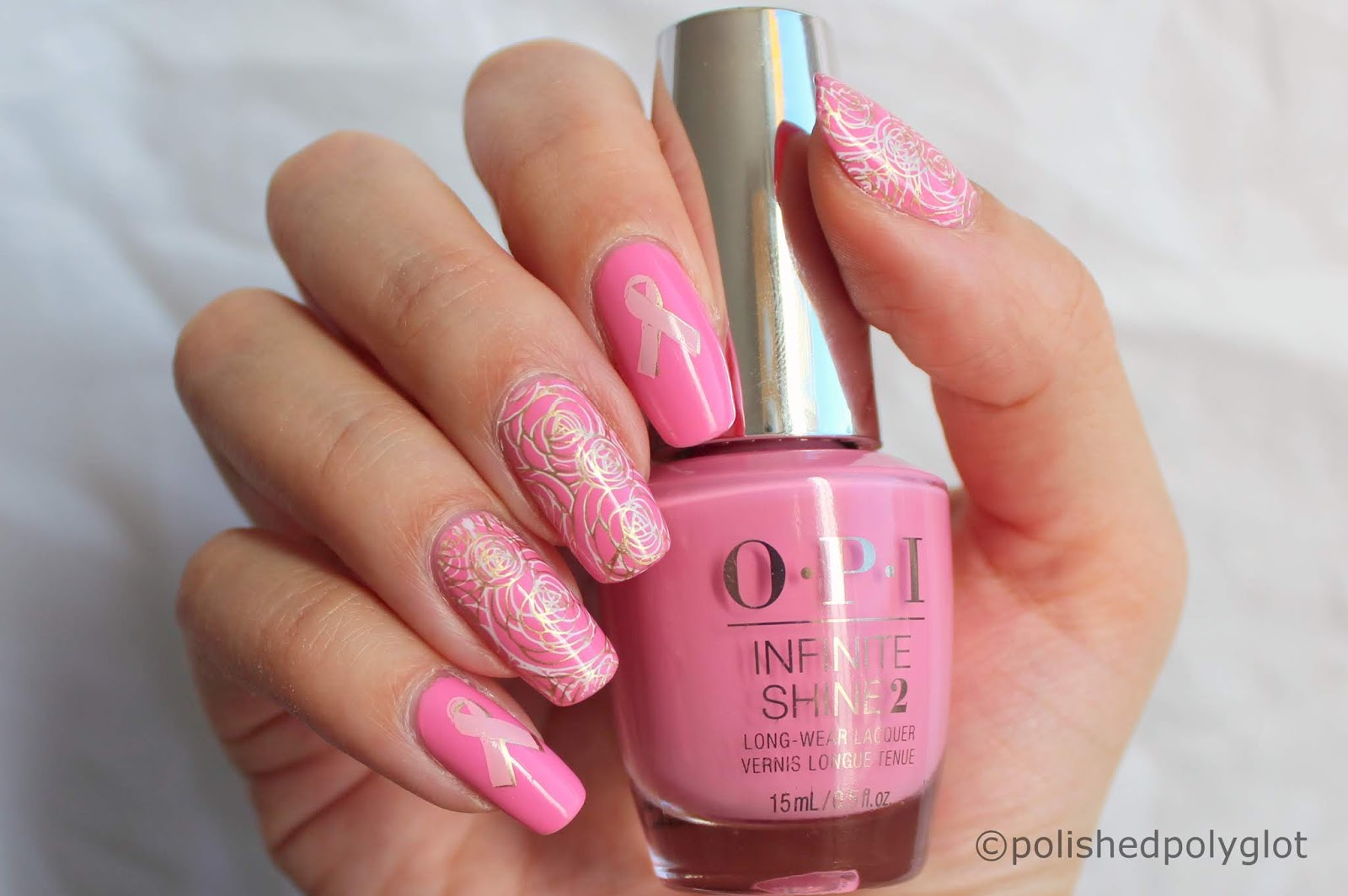Nail art │ Pink Nails for Breast Cancer Awareness Month / Polished ...