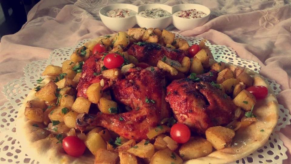 دجاج مع بصل