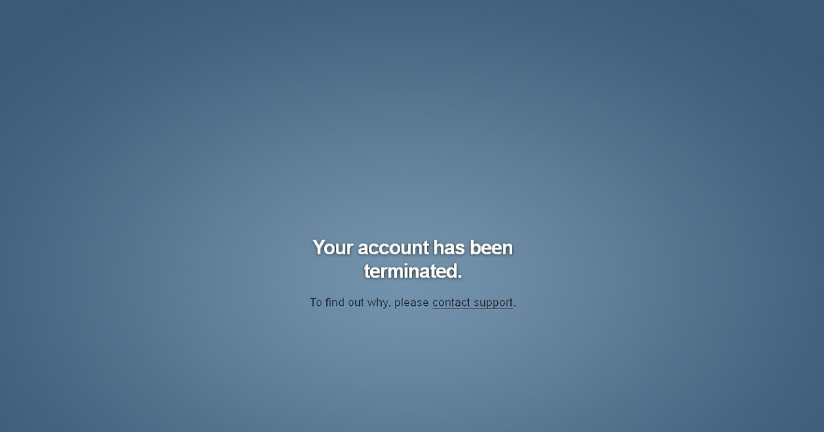 How to restore Terminated TUMBLR Blog