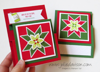 Stampin' Up! Christmas Quilt Step Panel Cards ~ 2017 Holiday Catalog ~ www.juliedavison.com
