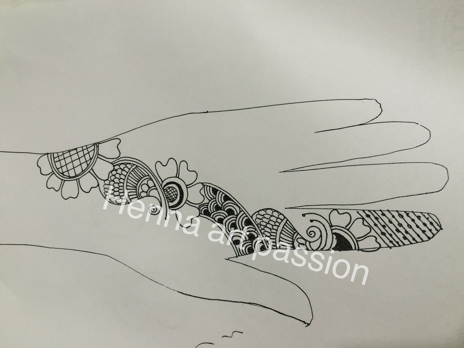 Henna Art Passion: template for how to practice henna design