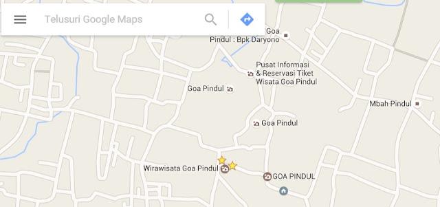 Peta Goa Pindul