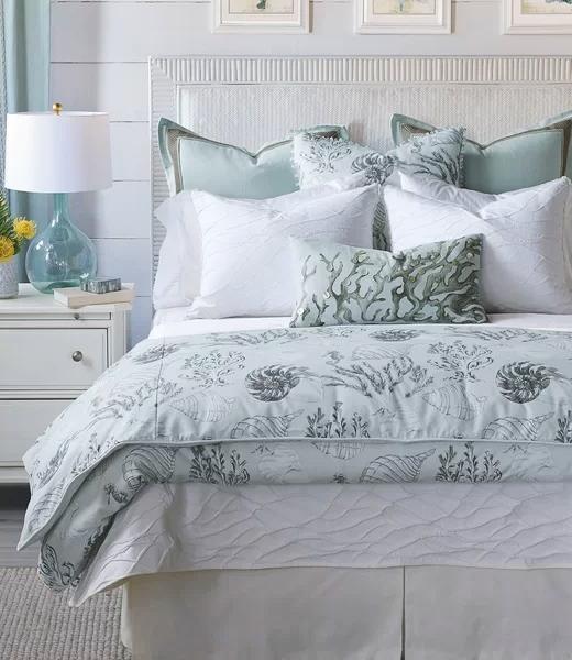 Gray Blue Coastal Cotton Duvet Set Bedding Idea
