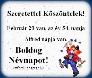 Február 23, Alfréd névnap