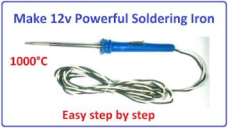 homemade 12v powerful soldering iron