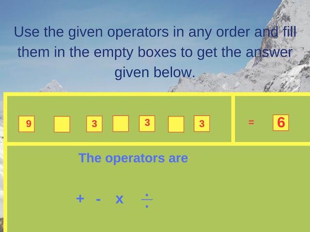 Math Operator Equation Brain Teaser-3