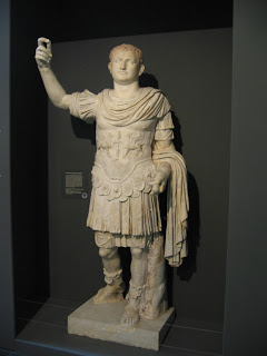 A statue of  Titus unearthed in Herculaneum, which can be found in a Berlin museum