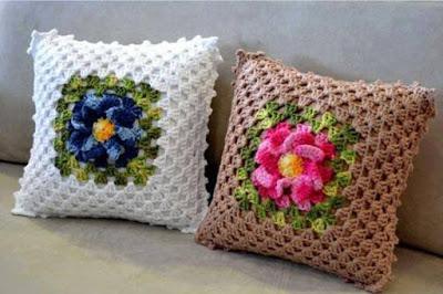 Patrón #1502: Cojines a Crochet