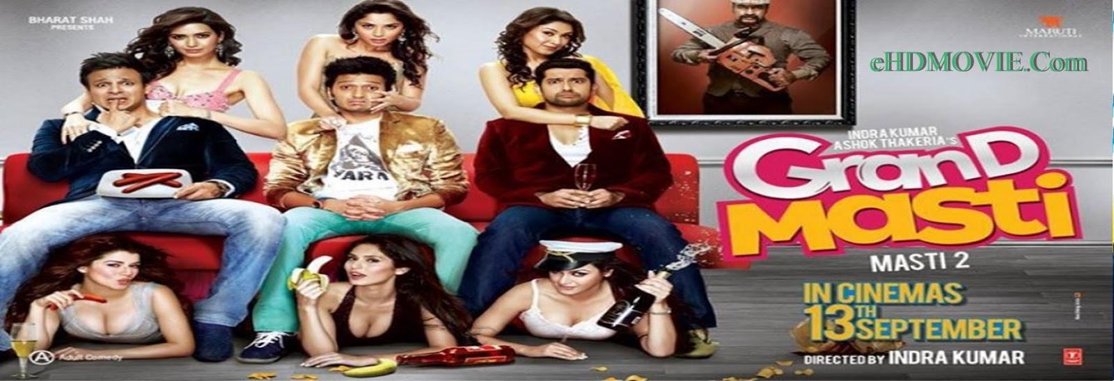 Grand Masti 2013 Full Movie Hindi 720p - 480p ORG BRRip 400MB - 850MB ESubs Free Download