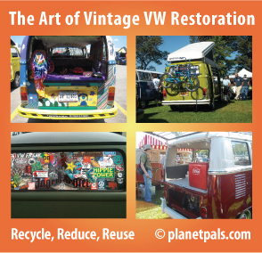The art and restoration of Vintage VW's-  Outside and In. So many cool ideas!