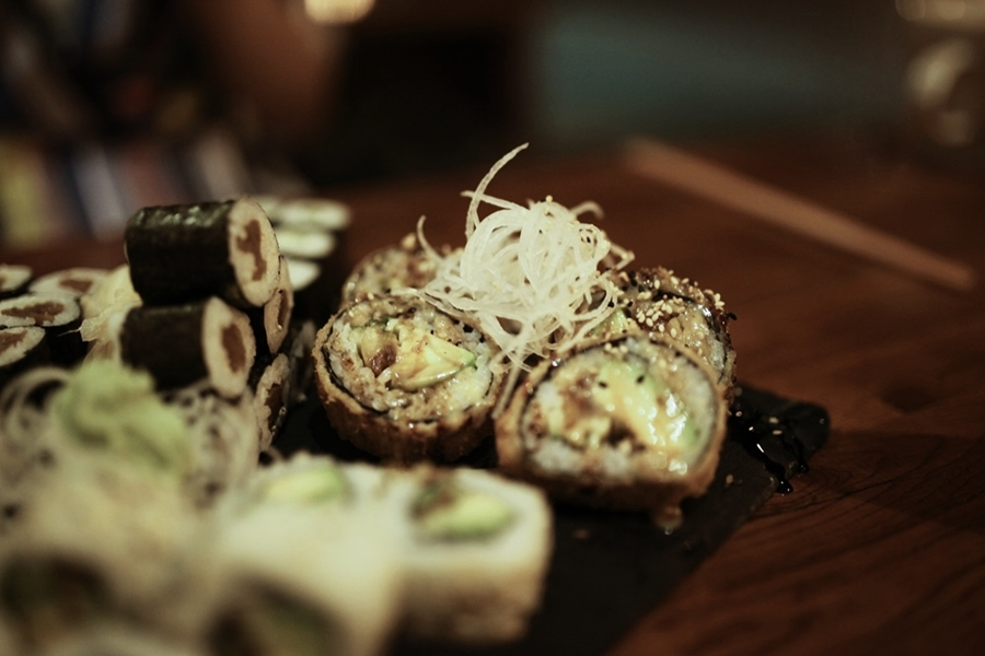 fritiertes sushi