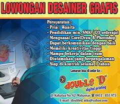 Lowongan Kerja di Double D Digital Printing Makassar