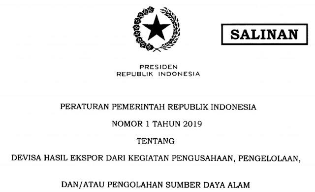 PP Nomor 1 tahun 2019