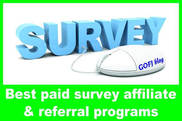 Paid survey affiliate program