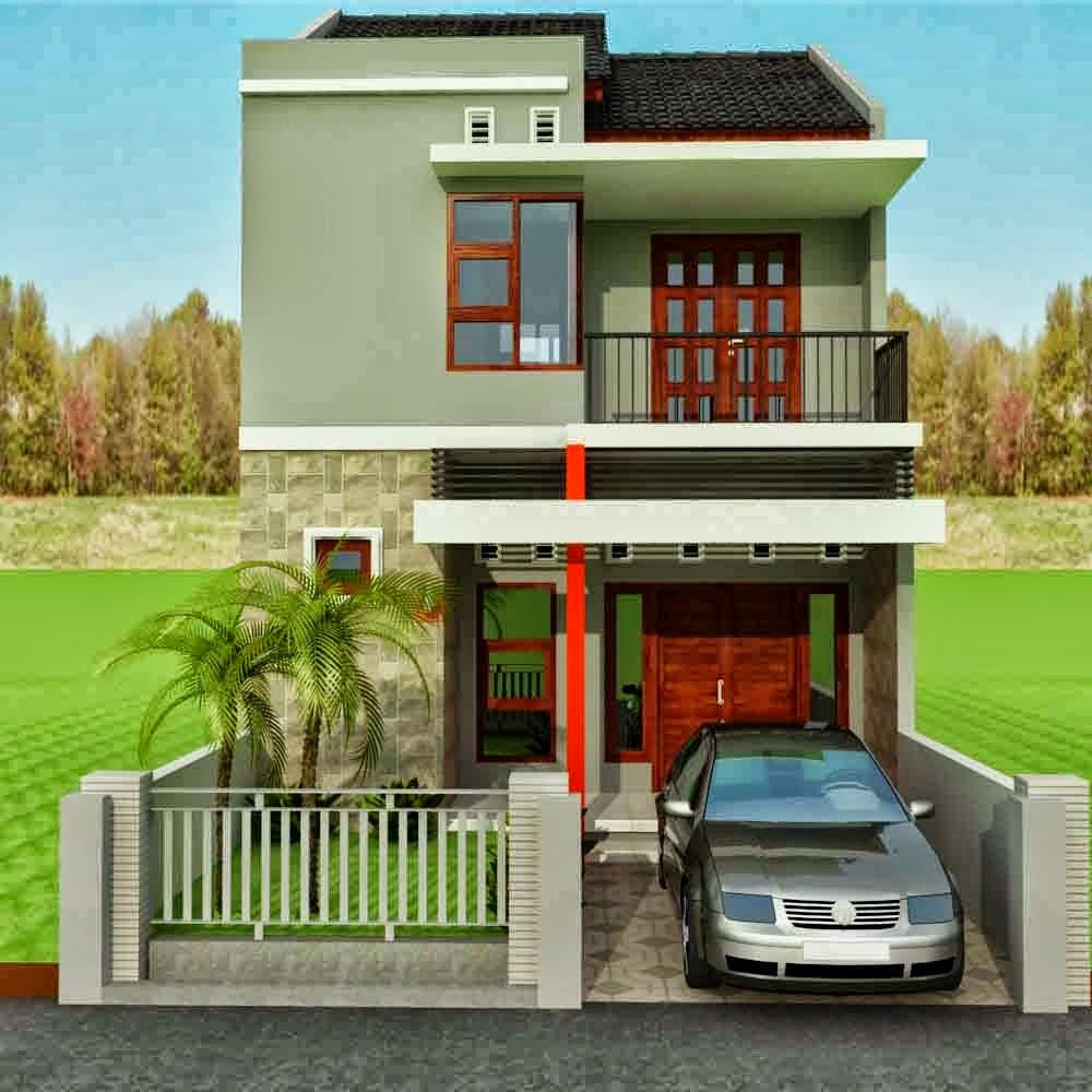 Rumah Minimalis 2 Lantai Tanah Sempit Desain Rumah Minimalis