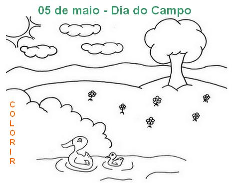 Dia Do Campo Atividades E Desenhos Para Colorir 05 De Maio