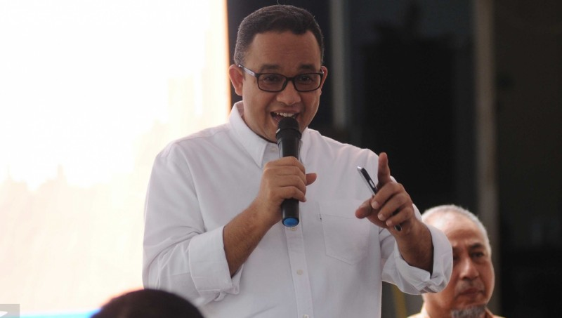 Calon gubernur DKI Jakarta Anies Baswedan