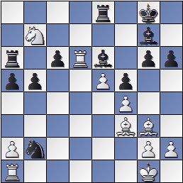 Partida General Soler - Pere Puig en el II Torneo Nacional de Ajedrez de La Pobla de Lillet 1956, posición después de 23.Td6?!