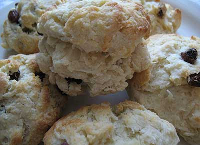 Raisin Cranberry Tea Biscuits