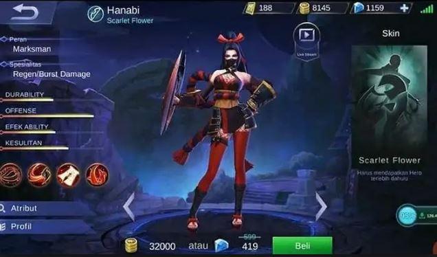 cara menggunakan Hanabi Mobile Legend