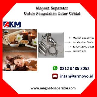 Magnet Separator Liquid Untuk Lulur Coklat
