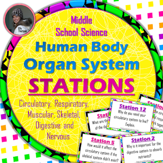Human Body Organ Systems Stations