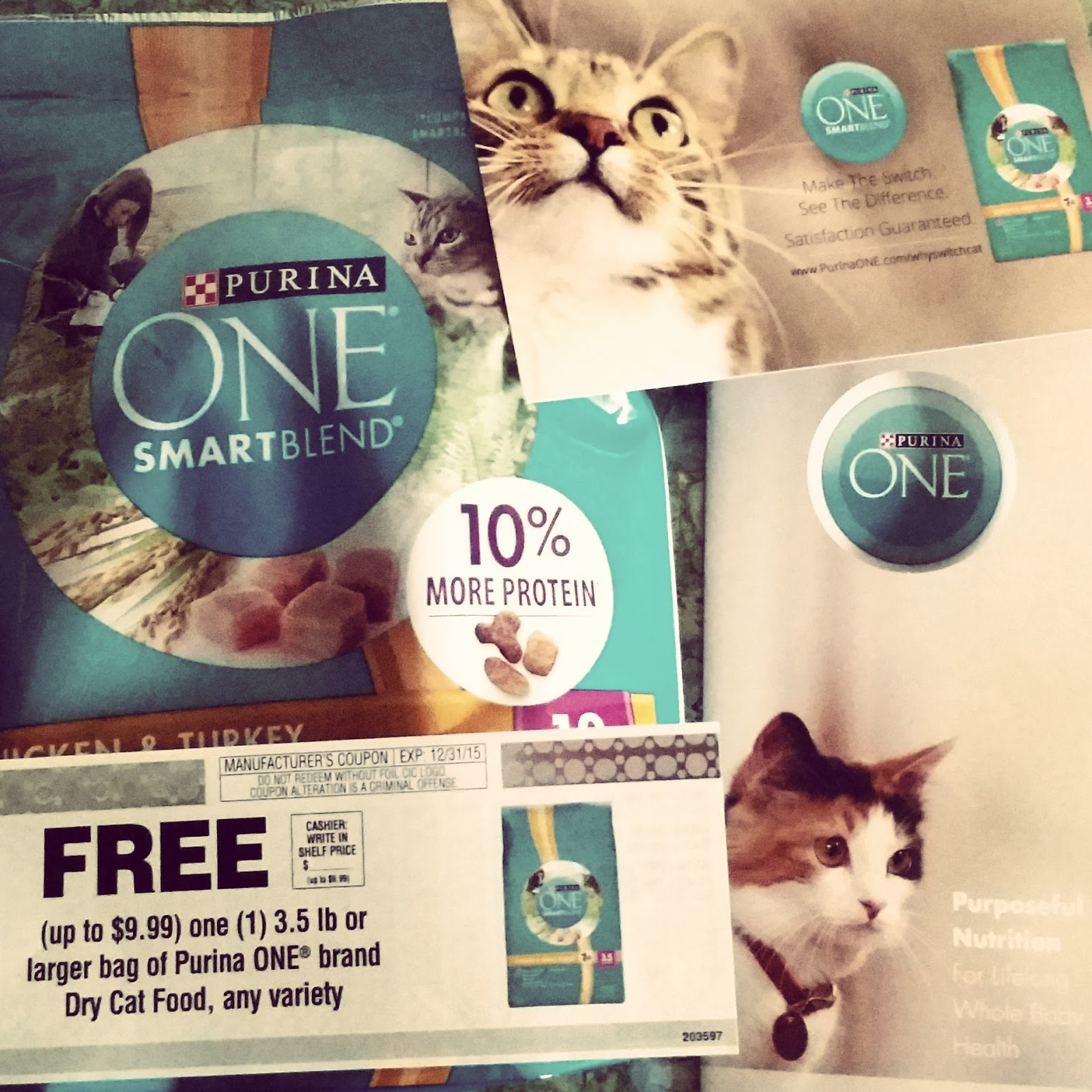 The Soap Lady: Make One Switch to Purina ONE® Cat food