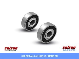 Bánh xe đẩy có phanh hãm giảm xóc Colson phi 150 | SB-6509-648BRK1 sử dụng bạc đạn banhxedayhang.net