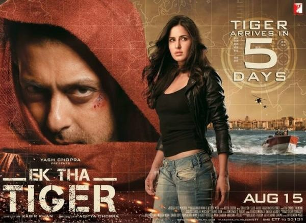 Salman Khan, Katrina Kaif Ek Tha Tiger seventh highest-grossing Bollywood film of all time, exceeded by PK, Dhoom 3, Chennai Express, 3 Idiots, Happy New Year, Kick. Box Office Business 310 Crore MT wiki