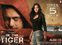 Salman, Katrina Ek Tha Tiger seventh highest-grossing Bollywood film of all time, exceeded by PK, Dhoom 3, Chennai Express, 3 Idiots, Happy New Year, Kick. Box Office Business 310 Crore MT wiki