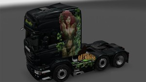 Poison Ivy paint job for Scania RJL
