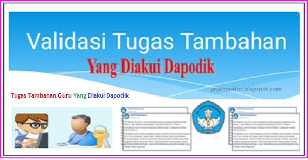 Hasil gambar untuk Tugas Tambahan Guru Yang diakui Dapodik 2019