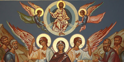 Orthodox icon of the Ascension of the Lord